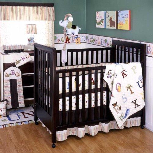 Kids Line My First ABC 6 Piece Crib Set, Multicolor, Baby & Kids Zone