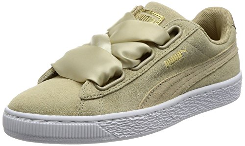 Puma Women's Suede Heart Safari Low-Top Sneakers, Beige (Safari-Safari), 3.5 UK