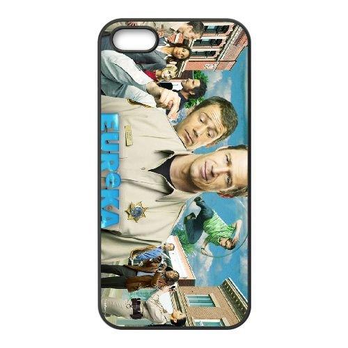 Eureka coque iPhone 4 4S cellulaire cas coque de téléphone cas téléphone cellulaire noir couvercle EEEXLKNBC24950