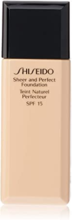 Shiseido Sheer and Perfect SPF 15 B20 Natural Light Beige Foundation for Women, 1 Ounce