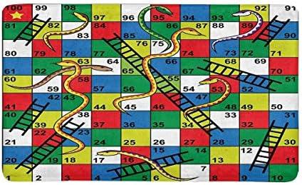 Juego de mesa de serpientes y escaleras Alfombrilla de entrada Alfombra de entrada interior Alfombrillas para piso Raspador de zapatos Alfombrilla para puerta Decoración antideslizante para el hogar,: Amazon.es: Hogar