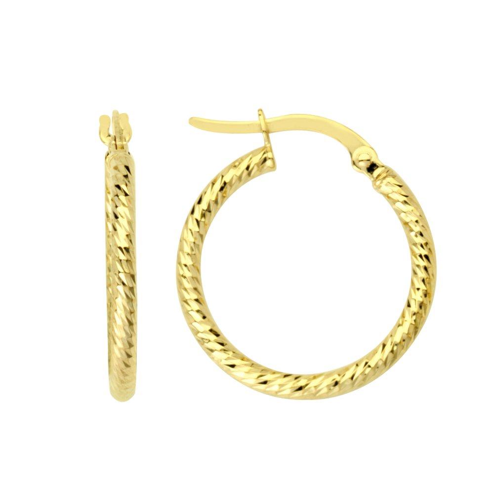 14Kt Gold Hoop Earring Hoop Earrings