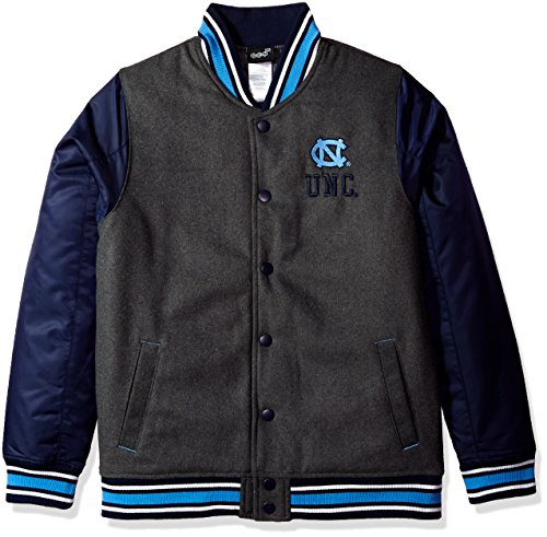 Outerstuff NCAA North Carolina Tar Heels Youth Boys Letterman Varsity Jacket, Large (14-16), Charcoal ()