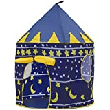 BESUNTEK Children Play Tent Foldable Castle Playhouse for Boys Girls Toddlers Indoor Outdoor Use