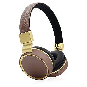HAJZF Auriculares Bluetooth inalámbricos Plegables, Tarjeta ...