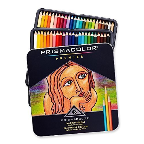 Prismacolor Premier Soft Core Colored Pencil, Set of 48 Assorted Colors (3598T) (2 Pack) by Prismacolor by Prismacolor