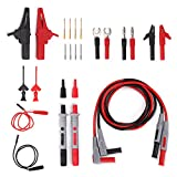 Sumnacon Multi Test Leads Kit, 24-in-1 Electrical Multimeter Test Lead With Alligator Clips, Test Probe, Spring Grabber,Banana Plug - Professional Volt Meter Leads For Voltage Circuit Tester