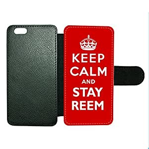 Case Fun Case Fun Keep Calm and Stay Reem Faux Leather Wallet Case Cover for Apple iPhone 6 4.7 inch