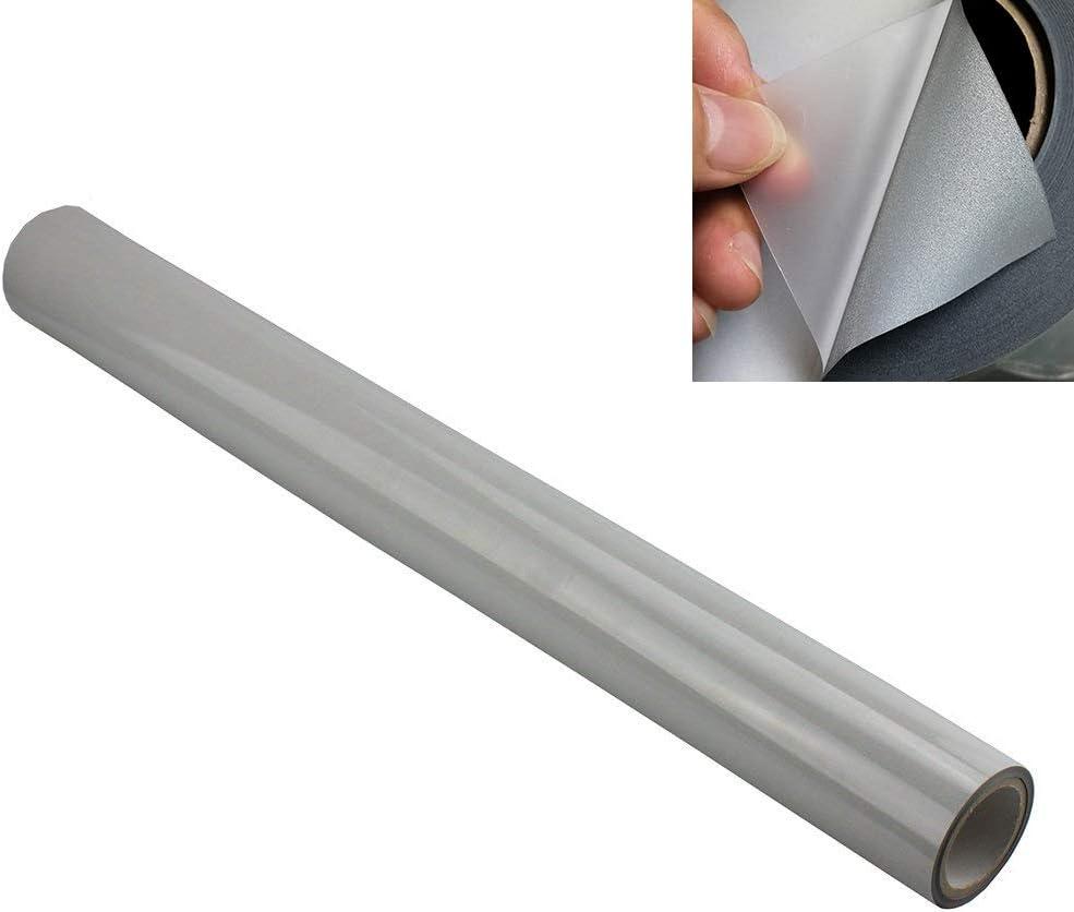 Silver Reflective HTV DIY Heat Transfer Vinyl Heat Press Film Iron-ON Clothes