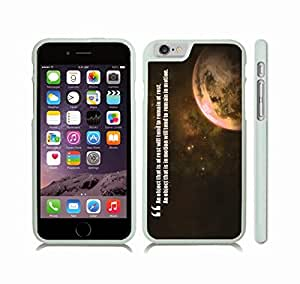 "iStar Cases? iPhone 6 Case with ""A mother's hug lasts long after she lets go"" Inspirational, Lioness and Cub Design , Snap-on Cover, Hard Carrying Case (White)"