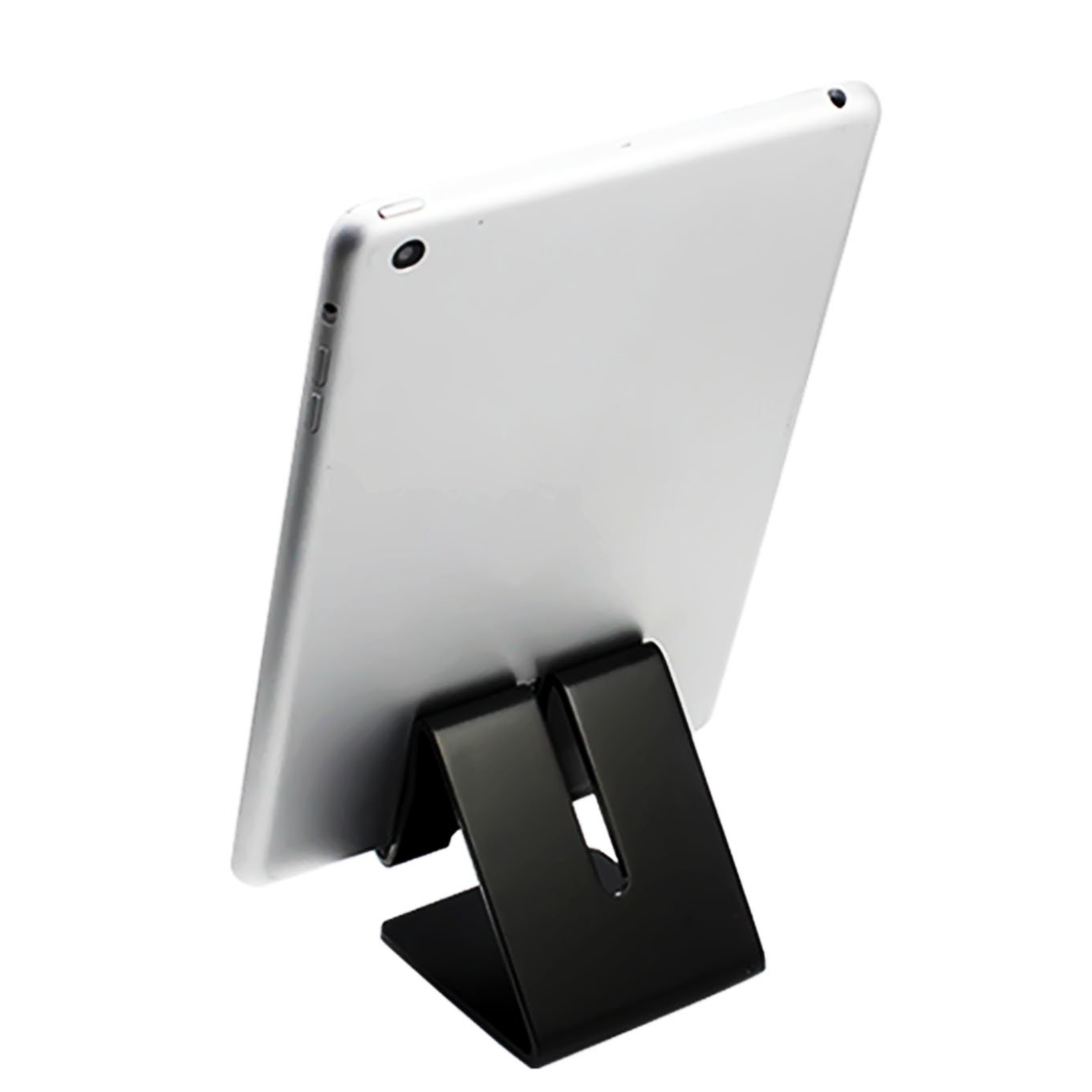 Desktop Cell Phone Stand Tablet Stand,iBarbe Advanced Aluminum Stand Holder for Mobile Phone (All Size) such as Mobile Phone iPhone X,iPhone 8 6S,7 Plus 5S 6 SE 5C etc.Tablet(Up to 10.1 inch), Black