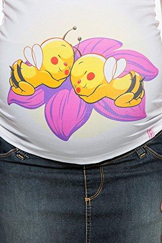 My Tummy Maternité top abeilles jumeaux