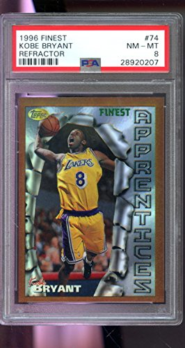 1996-97 Topps Finest REFRACTOR #74 Kobe Bryant ROOKIE RC NM-MT PSA 8 Graded Card