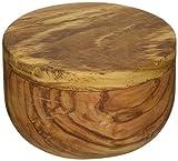 Naturally Med Olive Wood Salt Keeper/Pot/Salt Box