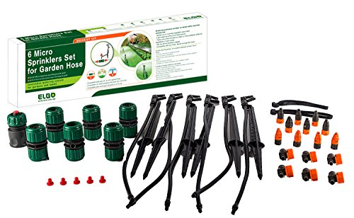 Elgo 6 Micro Sprinklers Set for Your Garden Hose ()