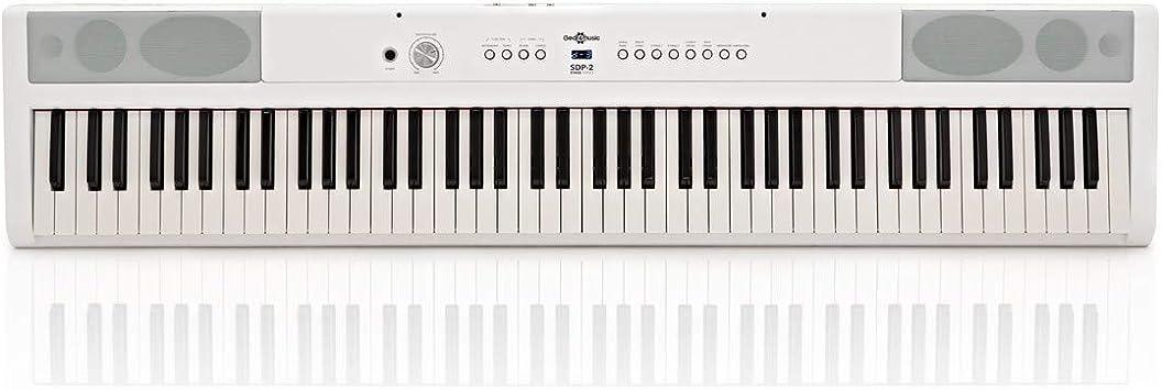 Piano de Escenario SDP-2 de Gear4music Blanco