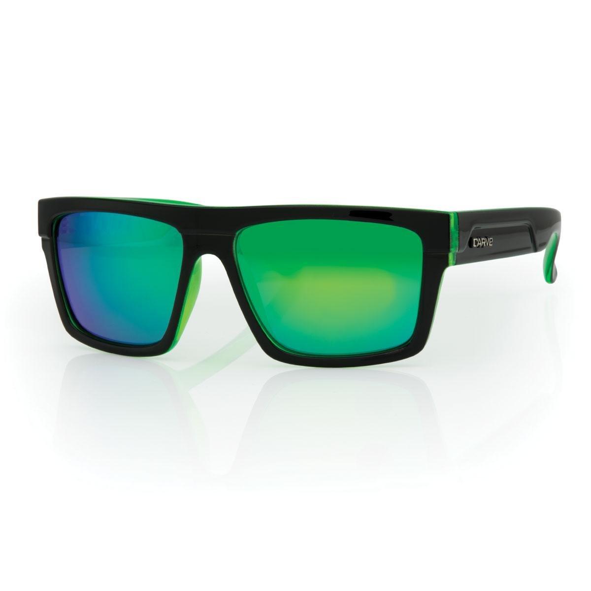 19afaa6c275 Amazon.com  CARVE Volley Sunglasses Black Clear Green Polarized Iridium   Clothing