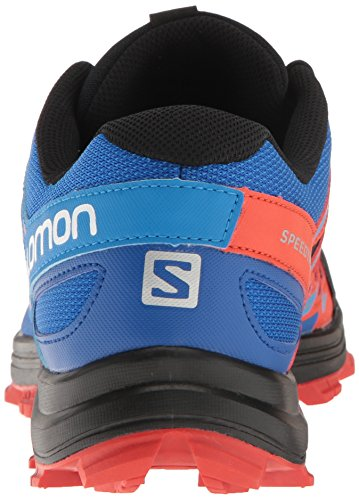 Salomon Mens Speedtrak-m Trail Runner Nero / Blu Laggiù / Lavica Arancione