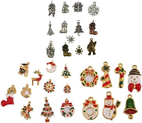 ペンダント クリスマス DIY 材料 パーツ 素材 手作り ネックレス作り ブレスレット作り ジュエリー作り 約42個入り