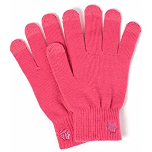 Warm Touch Screen Gloves - Soft Quality Material - Works on All Touchscreen Devices (Sharp Pink)