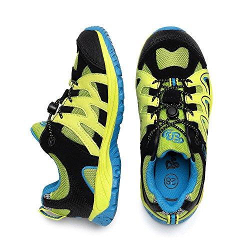 Brütting vision low sneaker chaussures de randonnée pour enfant vert, bleu, noir avec membrane-tex