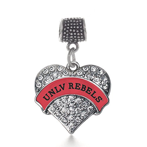 - Inspired Silver UNLV Rebels Pave Heart Memory Charm Fits Pandora Bracelets & Compatible with Most Major Brands such as Chamilia, Murano, Troll, Biagi and other European Bracelets