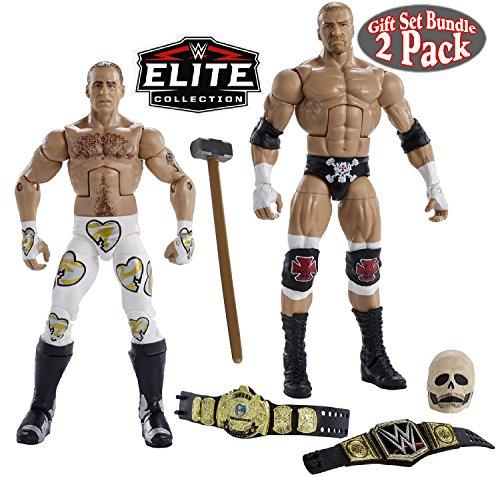 Elite Collection Set - WWE Elite Collection Wrestlemania Triple H & Shawn Michaels Wrestling Figures Gift Set Bundle - 2 Pack