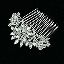 SEPBRDIALS Rhinestone Crystal Hair Side Comb Women Wedding Hair Accessories Jewelry FA5071