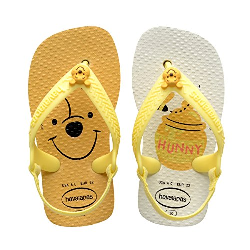 HavaianasBaby Disney Classics Sandal, White/Pollen Yellow 23/24 BR/Toddler (9 M US) Toddler Classic Sandal
