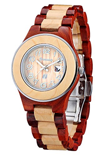 Dreamy cherry with maple color collocation, water resistant wood watch - Sunglasses Whiskey Barrel