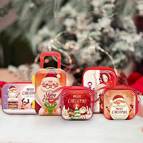 Enjoyyouselves Cajas, Lata, Navidad, Hierro, Caja pequeña ...