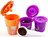 Keurig 2.0 K-Carafe Reusable Coffee Filter and Single Refillable K-Cup 4 piece Bundle Gift Set with Coffee Scoop for K200, K300, K400 and K500 series (1)