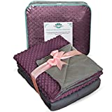 #7: Weighted Blanket Adult Size-For Heavy Stress Relief, Autism, Restless Leg Syndrome & natural calm for anxiety - Plum 60 x 80