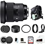 Sigma 105mm f/1.4 DG HSM Art Lens for Canon EF w/Sigma USB Dock & 32GB SD Card Advanced Travel Kit
