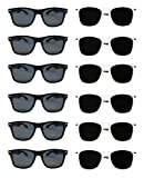 White Black Wayfarer Sunglasses Bulk Wholesale Party Pack-12 6 White 6 Black Premium Quality Plastic-Wholesale Bulk Kids Adults Women Men from TheGag