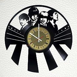 The Beatles John Lennon Paul McCartney Art Decor Vinyl Record Wall Clock - gift idea for girls boys sister and brother - home & office bedroom nursery room wall decor - customize your clock