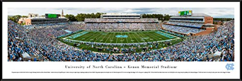 (North Carolina Tar Heels Football - Standard Framed Print by Blakeway Panoramas)
