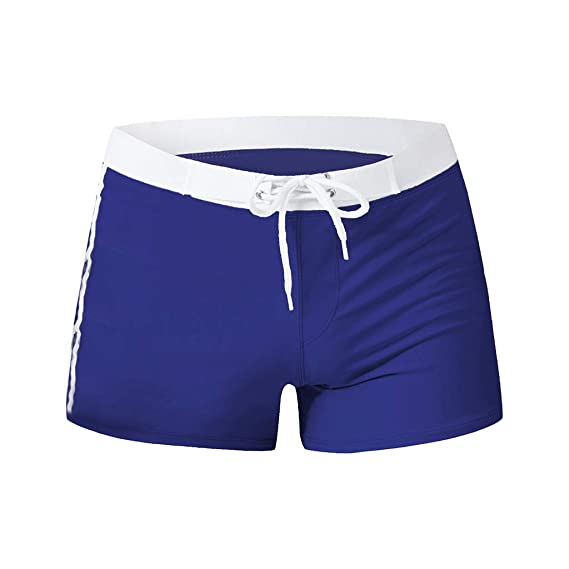 77259d4529 Fyou Sexy Swimsuit Fashion Swimming Trunks Briefs Beach Shorts Mens  Underpant Navy