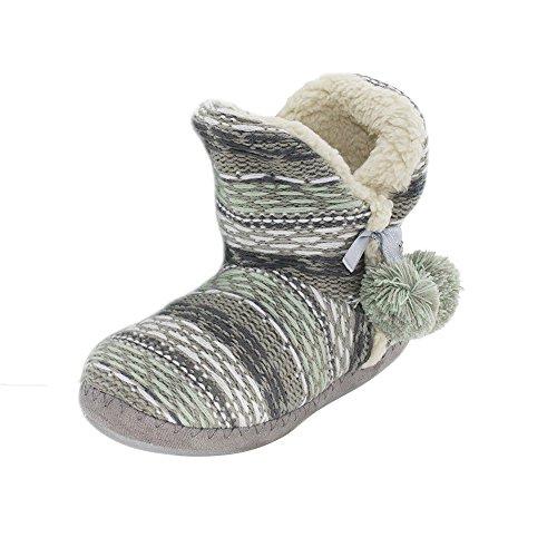 Estar por Sintético Zapatillas Material de de Mujer Verde brandsseller Gris casa para Raq0wERx