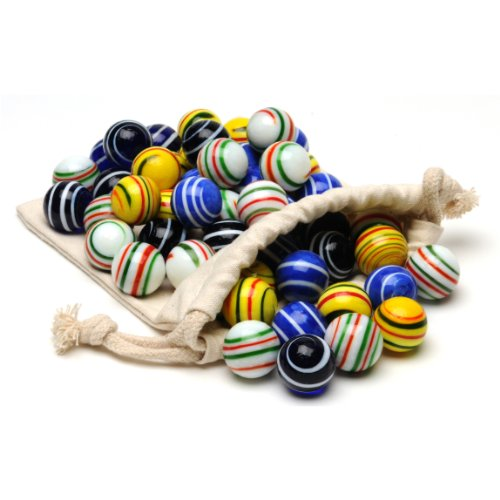 Assorted Stripe Marbles for Solitaire - Set of 33 by Wood Expressions