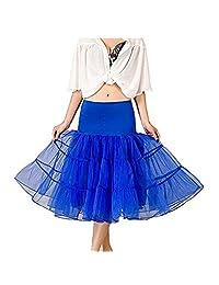 Noriviiq Womens 50s Tulle Petticoat Underskirt Crinolin Vintage Rockabilly Dress