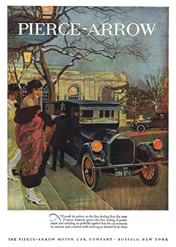 Posterazzi GLP469052LARGE Poster Print Collection Pierce-Arrow Ad 1920./Pierce-Arrow Automobile Advertisement From An American Magazine 1920. Poster Print By, (24 X 36), Multicolored ()
