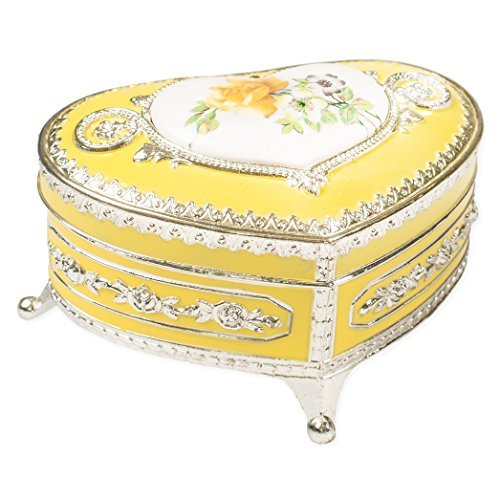安い購入 Vintage Yellow Tone Rose Flower Silver Yellow Tone [並行輸入品] Metal Keepsake Music Box Plays Tune Somewhere Out There [並行輸入品] B077ZX1DF1, ベッド寝具雑貨 B&Bスタイル:509a058d --- arcego.dominiotemporario.com