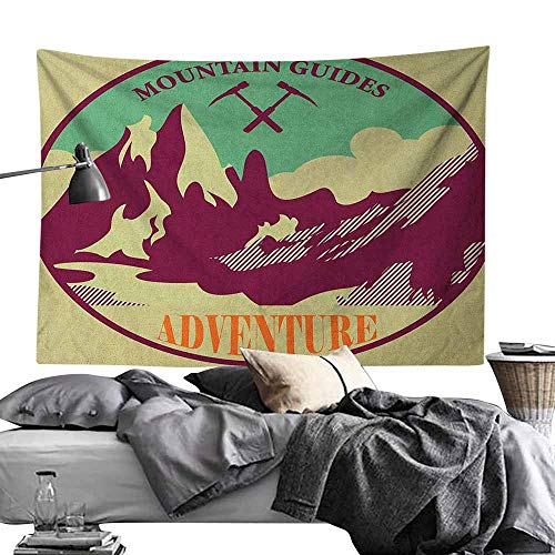 Maureen Austin Cool Tapestries,Adventure,Journey Mountain Guides Trekking Climbing Camps Tourism Vivid Colorful Art Print, Multicolor Print for Living Room Bedroom Dorm70 x90