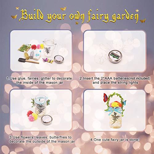 Seckton Fairy Lantern Craft Kit for Kids, Starry Fairy String Lights Art Crafts, First DIY Mason Jar Set for Little…