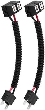 Kimiss H7 Scheinwerfer Nebelscheinwerfer Verlängerungsstecker Stecker Adapter H7 Keramik Adapterkabel Auto