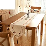Embroidered cotton and linen table runner/Mat fabric/American country tablecloths/Coffee table table runner-A 160x40cm(63x16inch)