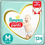 Fralda Pampers Pants Premium Care M - 124 fraldas
