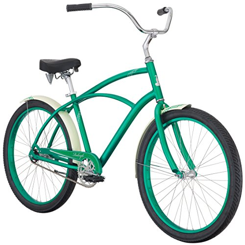 Raleigh Bikes Men's Retroglide Cruiser Bike, Green