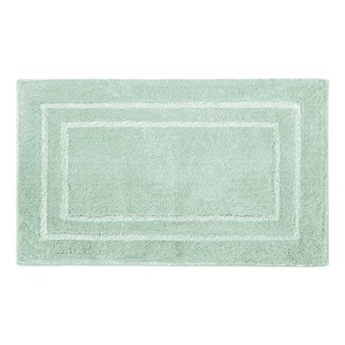 Laura Ashley Pearl Double Border 20 x 32 Bath Mat, Sea Foam